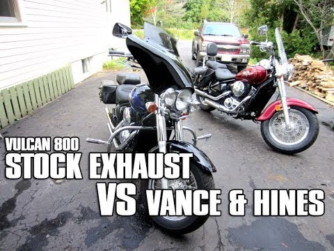 Kawasaki Vulcan 800 Stock Exhaust VS Vance & Hines Pipes