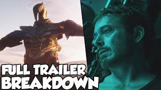 NEW Avengers End Game Trailer Breakdown - FULL Trailer Review! Avengers Last Stand