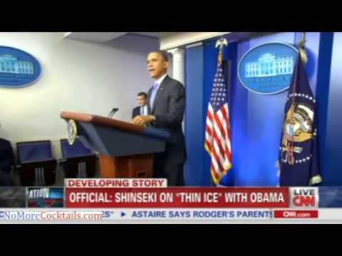 "Eric Shinseki reportedly on ""thin ice: with Obama"