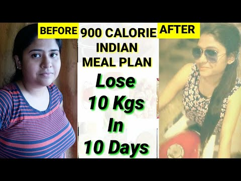 HOW TO LOSE WEIGHT FAST 10kg in 10 days | Indian Meal Plan | 900 Calorie Meal Plan To Lose 10 Kgs