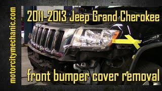2011-2013 Jeep Grand Cherokee front bumper cover removal
