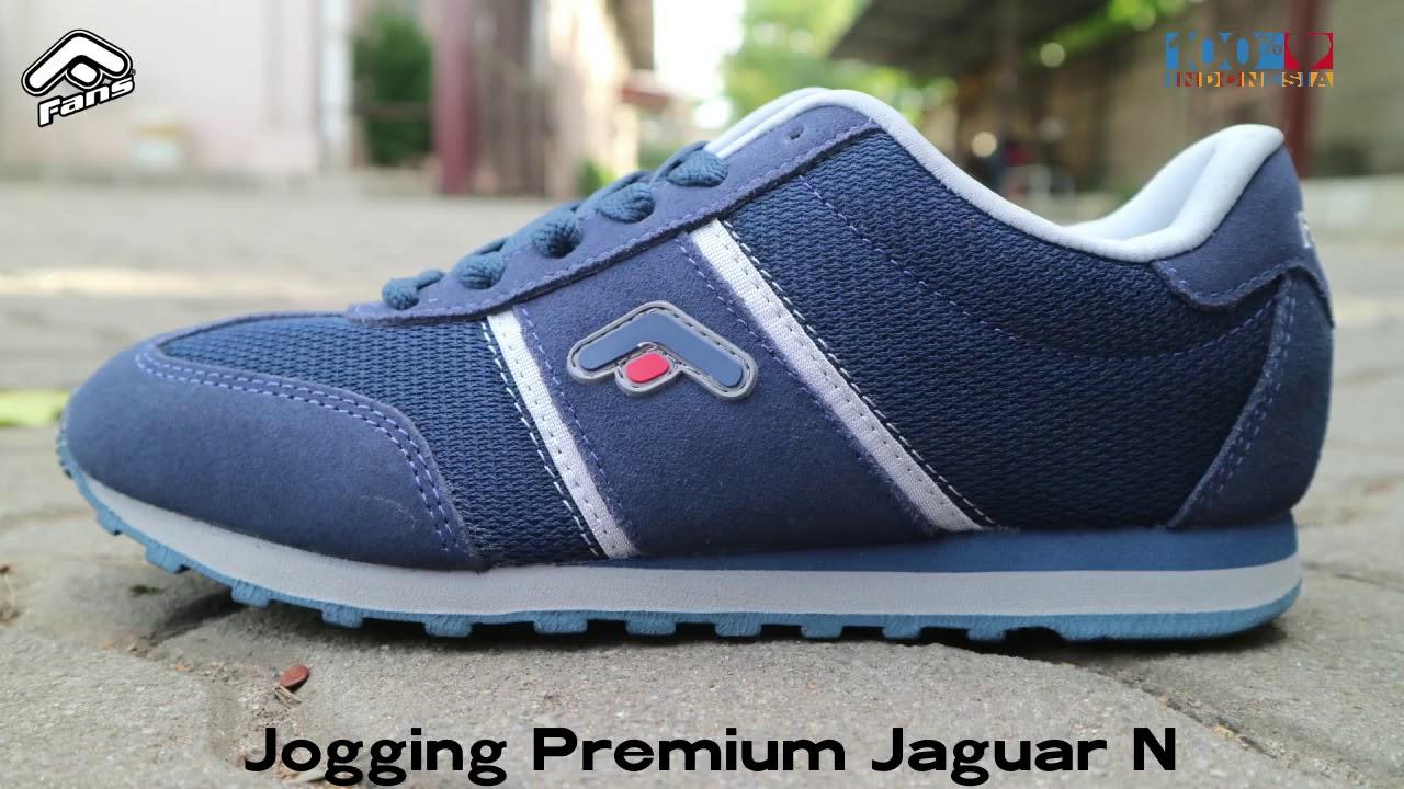 Sepatu Fans Jogging Premium Jaguar N (Navy Grey) - YouTube c815431a47