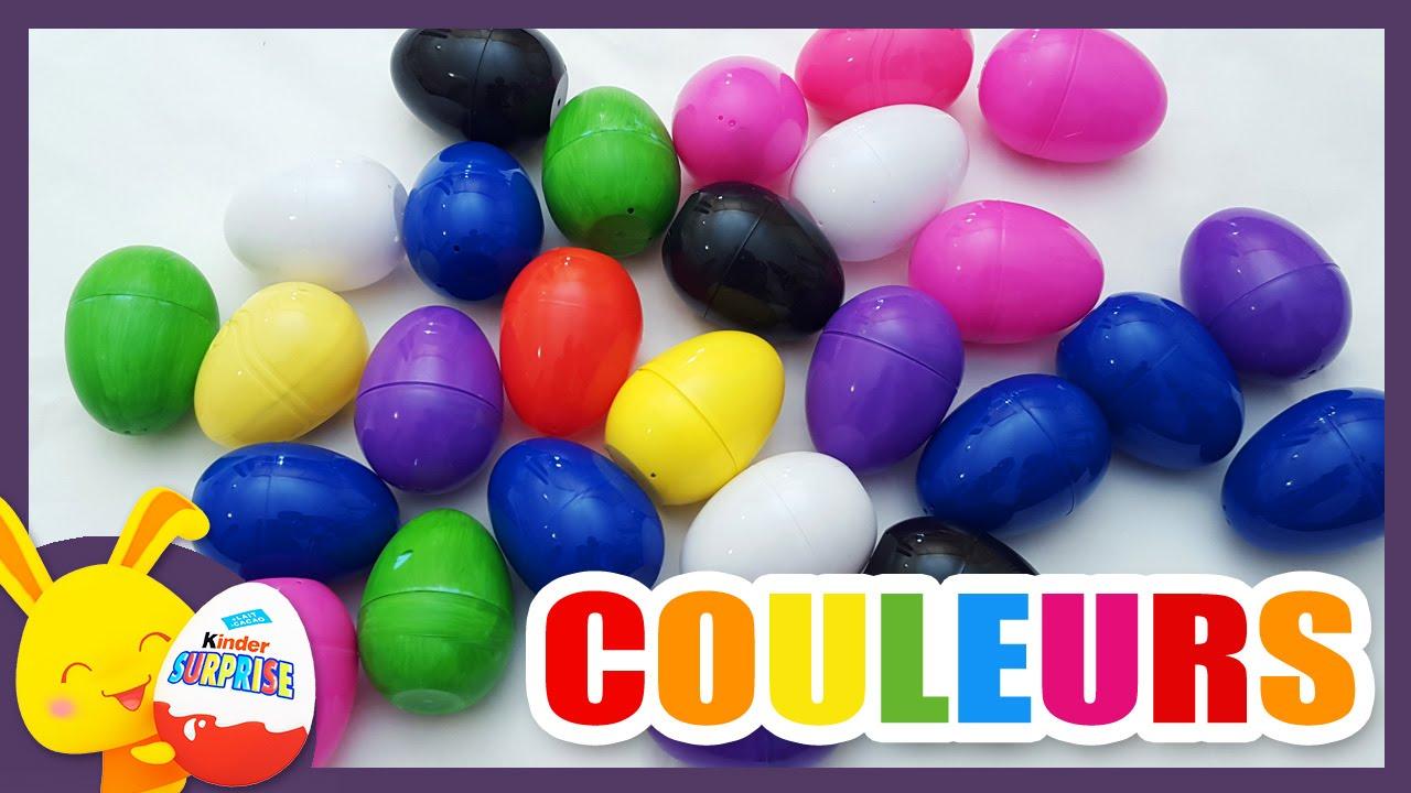 Comp tition des couleurs oeufs surprises pour apprendre les couleurs tito - Les couleurs de l ete ...