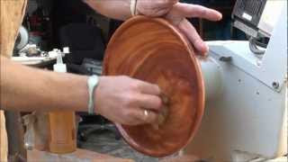 Wood Turning With Naked Turner, Exotic Wood Plate