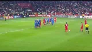 Selçuk Inan Frikik Golü ve ARDA'NIN FACİAYI ÖNLEYİŞİ  Türkiye-İzlanda Maçı