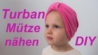 Turban Mütze nähen Anleitung für Anfänger von  Annas Nähschule