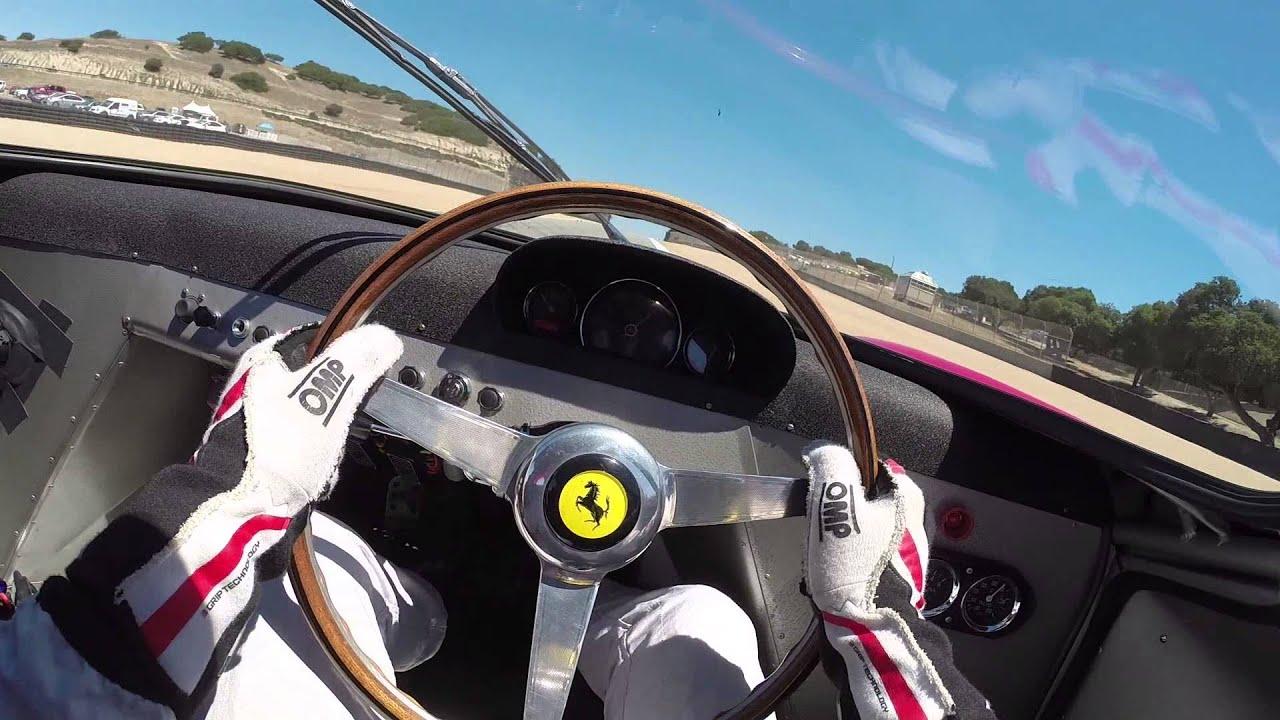 Mazda Raceway Laguna Seca >> 1965 Ferrari 250LM Driver View - YouTube