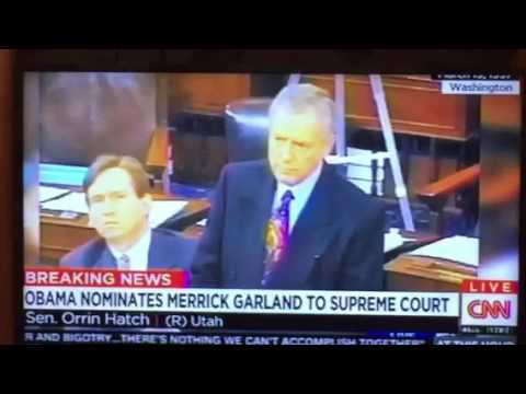 Orrin Hatch Supported Merrick Garland For DC Circuit