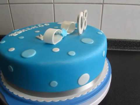80 geburtstag besondere fondant torte youtube. Black Bedroom Furniture Sets. Home Design Ideas