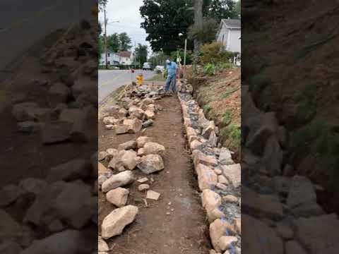 Como hacer un muro de piedra natural parte 1 youtube - Como colocar piedra natural ...
