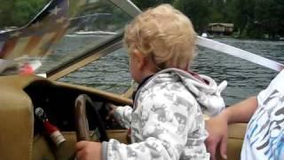 Jman drives the boat