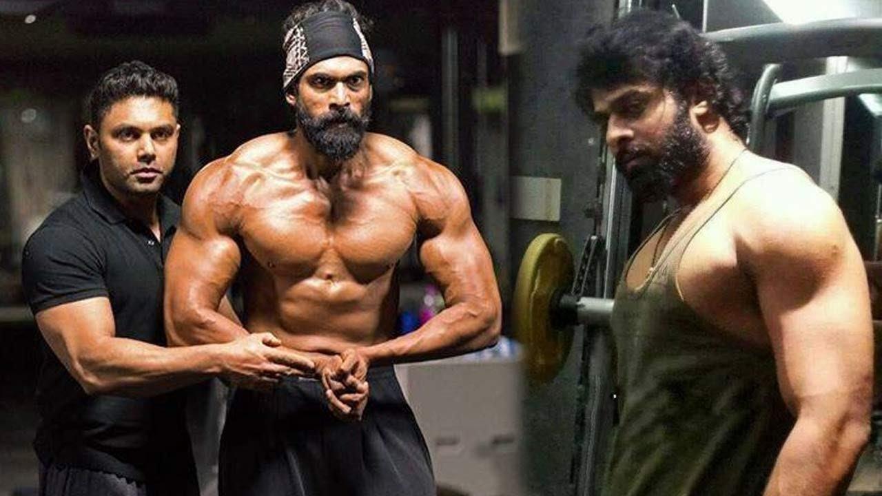 bahubali 2 prabhas n rana workout - youtube