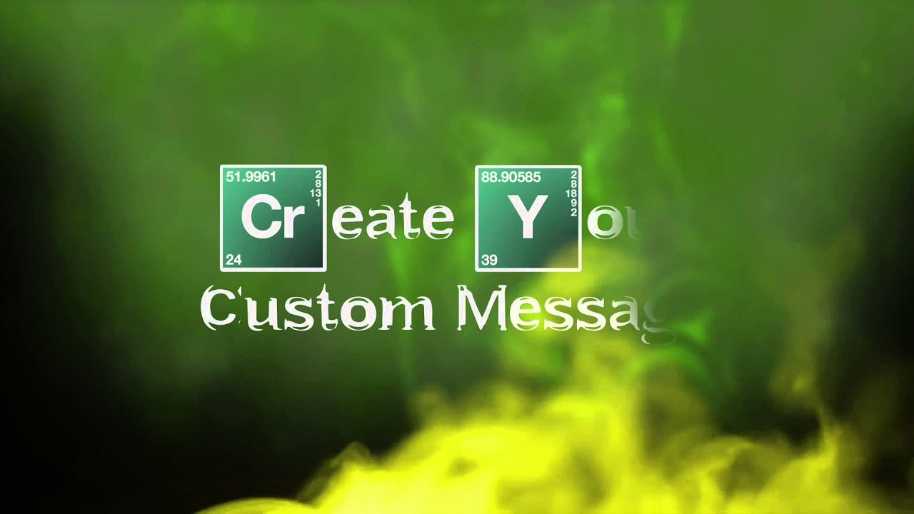 Create Your Own Custom Breaking Bad Intro