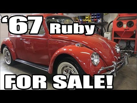 Classic VW BuGs 1967 Ruby Red Vintage Restored Beetle SOLD!