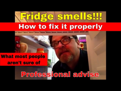 HOW TO REMOVE ODOURS FROM THE BACK OF YOUR FRIDGE. FRIDGE HAS BAD ODOR SMELL