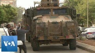 Turkish Military Convoy Moves Along Syria Border