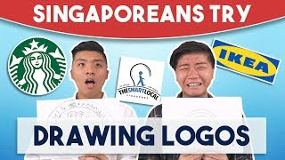 Singaporeans Try: Drawing Logos