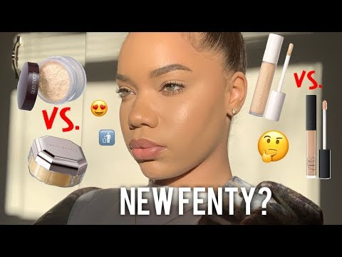 THE REAL TEA! NEW FENTY ProFiltr Concealer + Powder! Swatches and Comparisons
