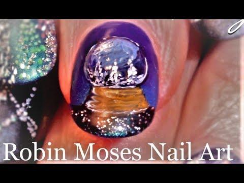 Snowglobe Nails you Can wear! DIY Christmas Nail Art Design Tutorial