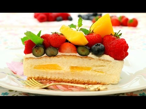 How To Make Fresh Fruits Cream Cake Chinese Birthday Cake Sponge