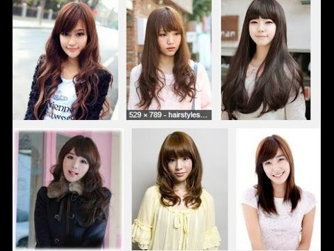 korean long hair style korean hairstyles for hair 4101 | hqdefault