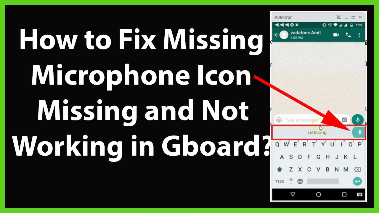 How to Fix Microphone Icon Missing and Not working in Gboard Google  Keyboard on Android?