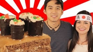 Sushi Cake For Jimmy Wong - How To Bake It In Hollywood With Ashley Adams