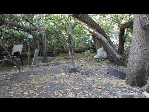 Homeless Camp Along Rock River - Rockford, IL (September 2017) Abandoned Tent City?