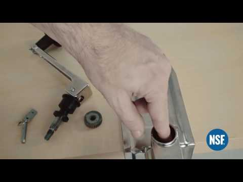 How to easily change blade knife and wheel to the BOJ NSF commercial manual can opener