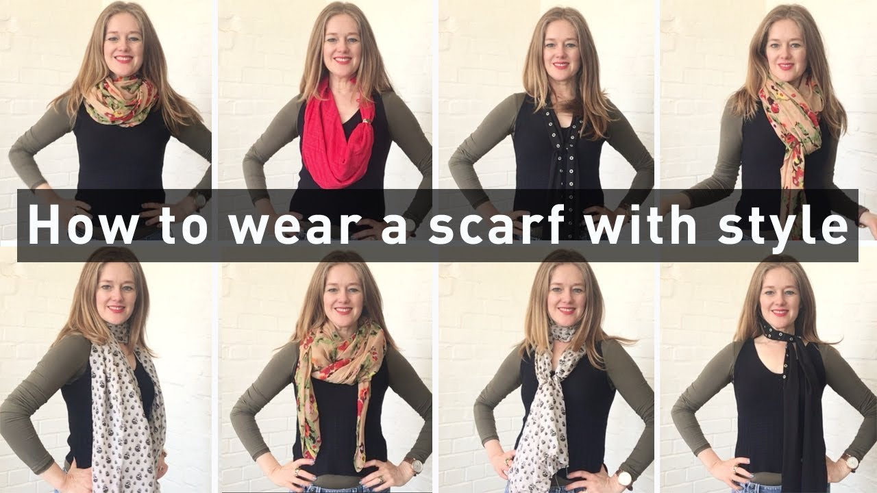 How to wear a scarf with style for women over 40