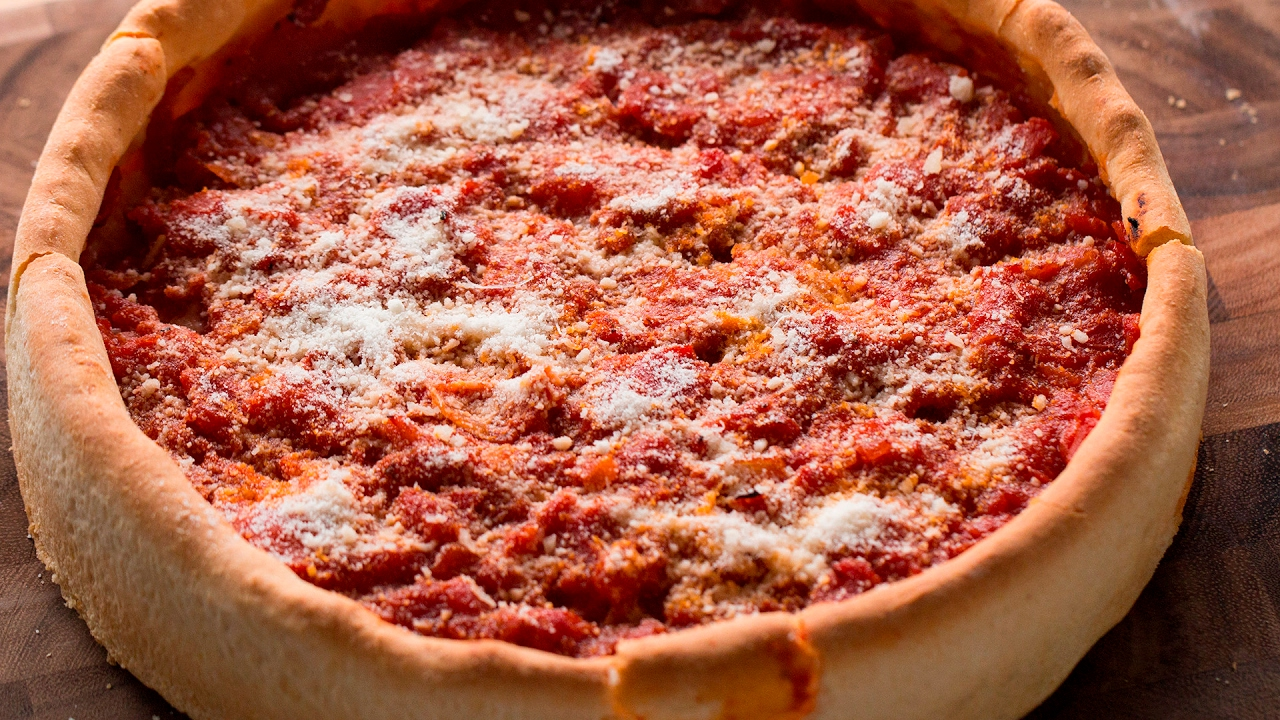 Homemade Deep Dish Pizza