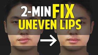 Fix Uneven Lips, Uneven Smile|Facial Asymmetry in 2-Minute|Balancing Exercises