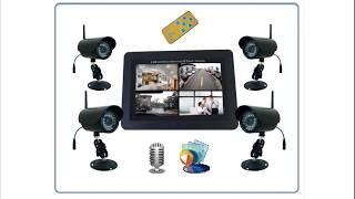 Беспроводной комплект ул. видеонаблюдения Монитор + 4 камеры HD с DVR Артикул: DE-W260. movie(, 2019-03-27T11:03:59.000Z)