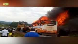 Brush With Death As Bus Catches Fire