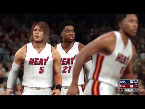 NBA 2K17 - Charlotte Hornets vs Miami Heat   Gameplay (PC HD) [1080p60FPS]