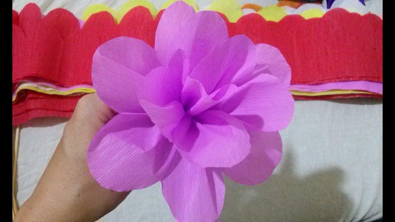 Flor De Papel Crepom Paper Crepe Flower