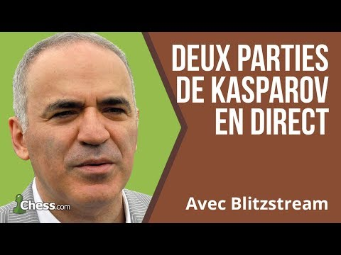 Deux parties de Garry Kasparov en direct
