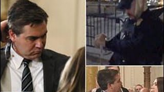 Jim Acosta BANNED from White House forced to handover press pass to Secret Service Police