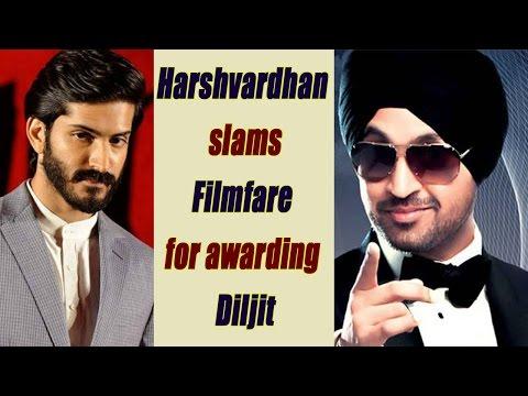 Diljit Dosanjh's filmfare award made Harshvardhan Kapoor angry | FilmiBeat