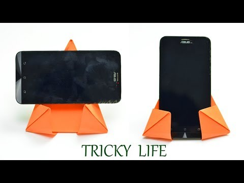 DIY SIMPLE AND EASY MOBILE HOLDER MADE BY COLOR PAPER EVERYONE SHOULD KNOW  PAPER CRAFT TRICKY LIFE