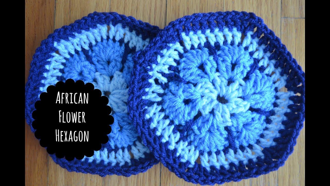 Easy African Flower Crochet Pattern : How to Make an African Flower Hexagon *Easy! - YouTube