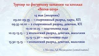 Турнир по фигурному катанию на коньках «Весна - 2019» 14.05.2019г.