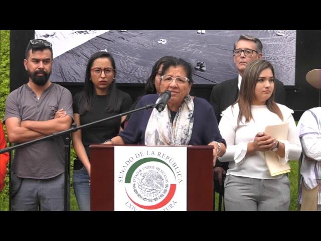 Discurso Nasheli Ramírez en la instalación fotográfica 10 años ABC, en el Senado