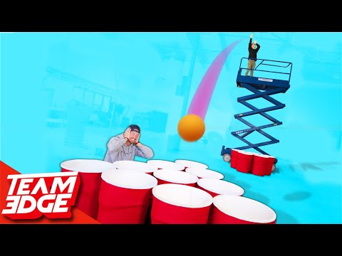 Giant Cup Pong With a Skylift!   Punishment edition!!