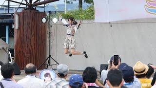 2019年9月1日(日曜) 午後2時頃。富山県魚津市、ミラージュランド。ミラクルアイドルフェスタに出演した、橋本陽菜(はしもとはるな)(AKB48 Team8)さん...
