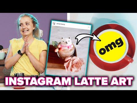 Baristas Try To Recreate Instagram Latte Art