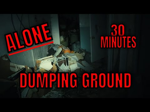 """(30 Minute ALONE Challenge) ROBS TURN, """"ABANDONED HAUNTED COUNTRY CLUB"""" CREEPY EXPLORE"""