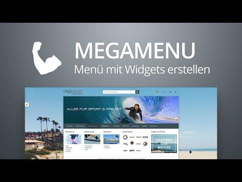 MegaMenu - Menü Mit Widgets Erstellen | OXID EShop Modul