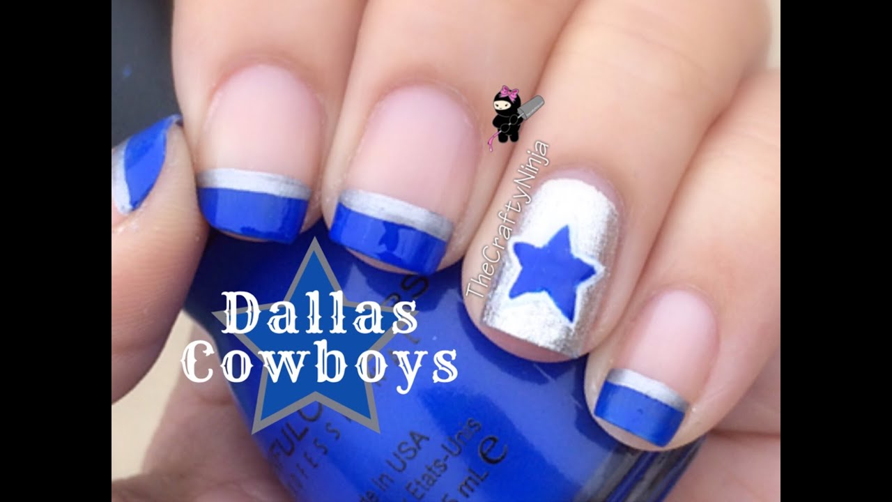Dallas Cowboys Nail Art Tutorial By The Crafty Ninja Youtube