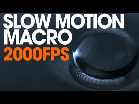 Extreme Slow Motion Phantom Miro Macro Lens Water 2000fps